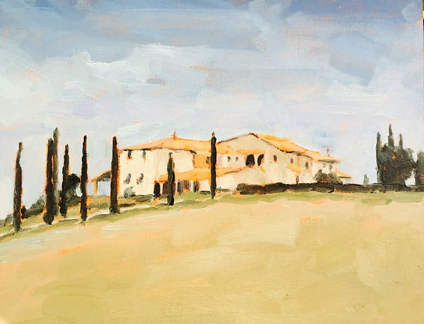 Tuscan Country Villa 8x10